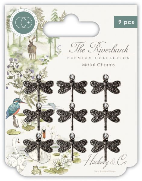 Craft Consortium The Riverbank Metal Dragonfly Charms
